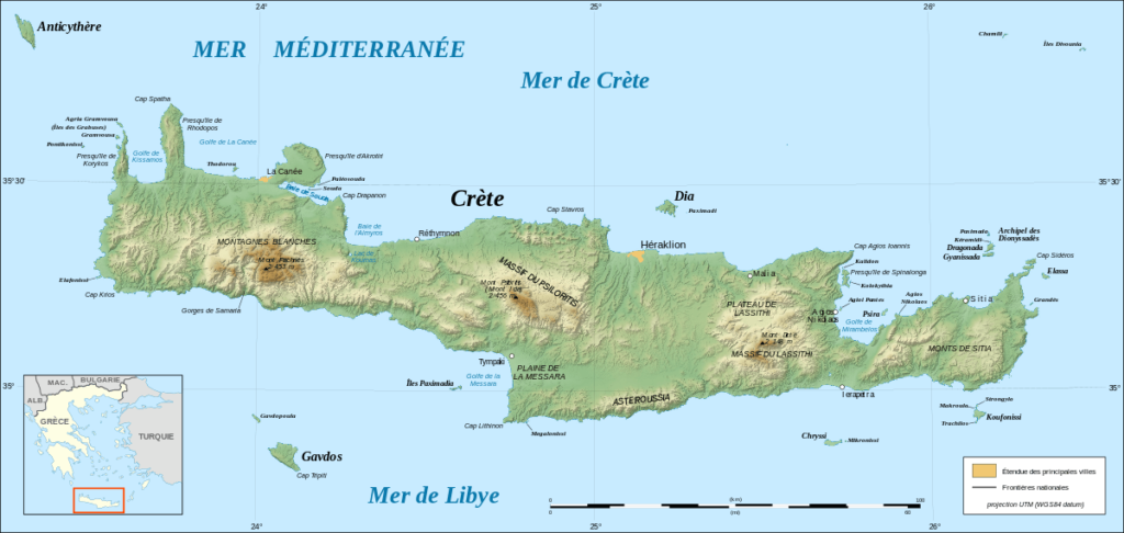 Où est la Crète
